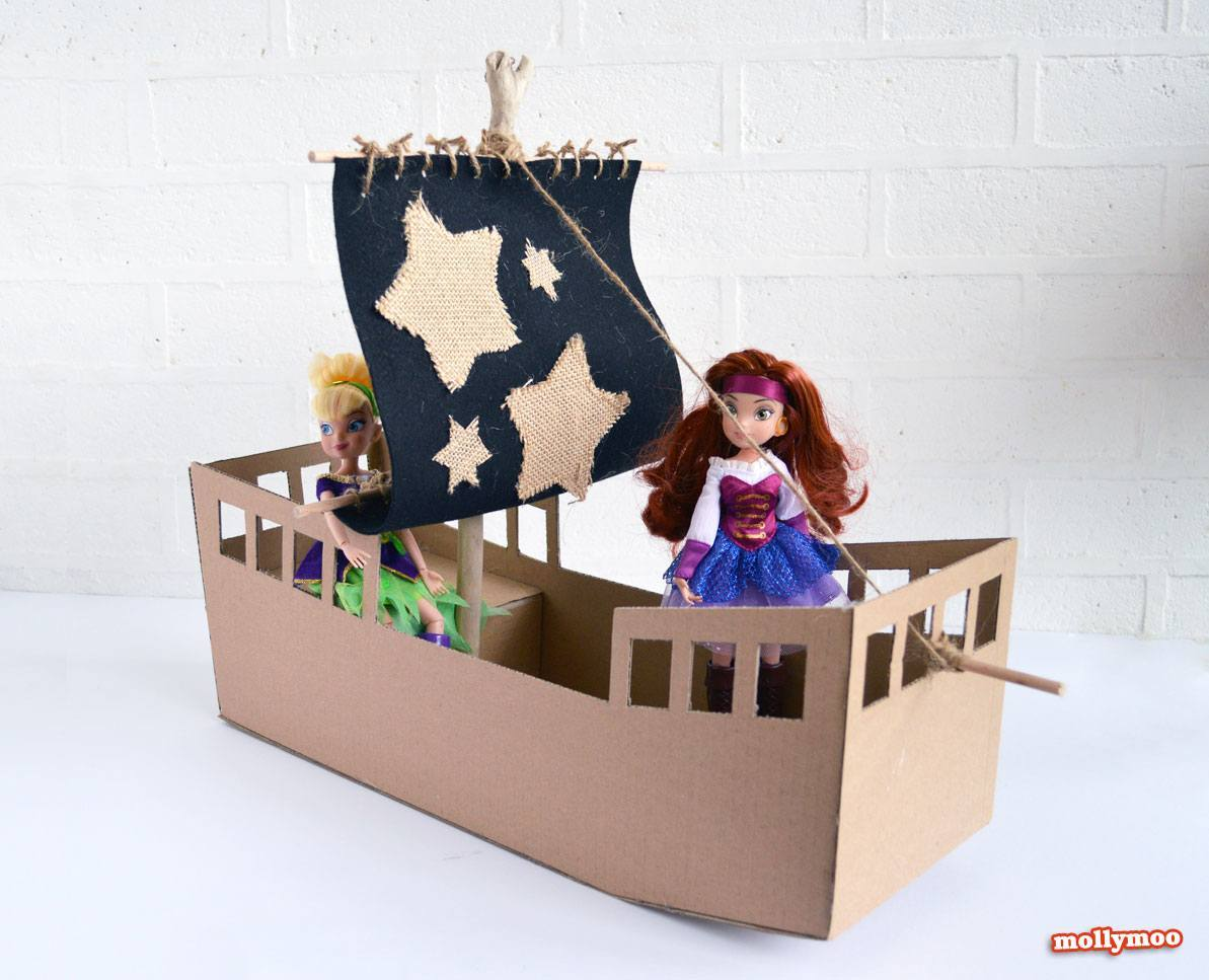 how to make a pirate ship out of cardboard boxes tiny fry